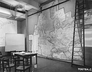 Operational level of war - World War II operational planning map