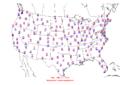2006-01-25 Max-min Temperature Map NOAA.png