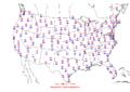 2006-03-07 Max-min Temperature Map NOAA.png