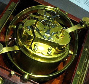 International Museum of Horology - Marine Chronometer No. 3153 by Breguet & Fils, double barrels, at the Musée international d'horlogerie in La Chaux-de-Fonds.