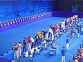 2008 Olympic Modern penthalton - shooting action.JPG