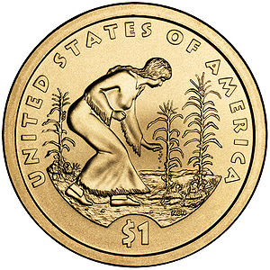 Three Sisters (agriculture) - Three Sisters as featured on the reverse of the 2009 Native American U.S. dollar coin