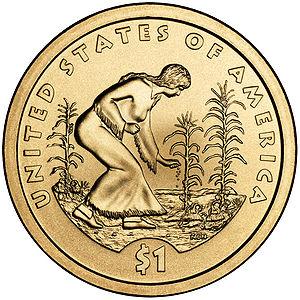 Sacagawea dollar - 2009 reverse by Norman E. Nemeth