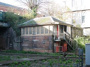 Exeter Central railway station - Exeter Central B signal box was in use from 1925 to 1970