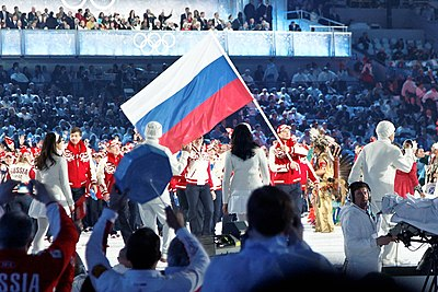 2010 Olympic Winter Games Opening Ceremony - Russia entering cropped.jpg