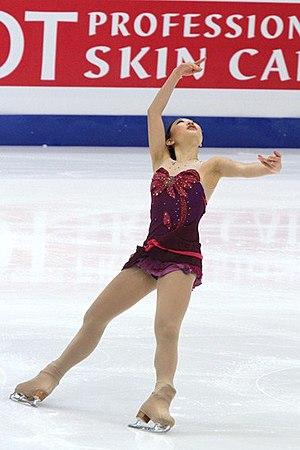 Mirai Nagasu - Nagasu performs a spread eagle at the 2011 Four Continents.