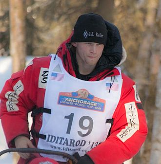 Dallas Seavey - Dallas Seavey in Anchorage, Alaska during the ceremonial start of the 2012 Iditarod Trail Sled Dog Race