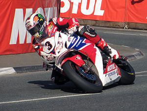 2013 Isle of Man TT - 2013 Isle of Man TT Senior TT John McGuinness (3), 1000cc Honda –  Quarterbridge, Douglas, Isle of Man 7 June 2013.