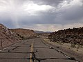 2014-07-17 15 48 11 View south along Nevada State Route 375 about 38.9 miles south of the Nye County Line in Lincoln County, Nevada.JPG