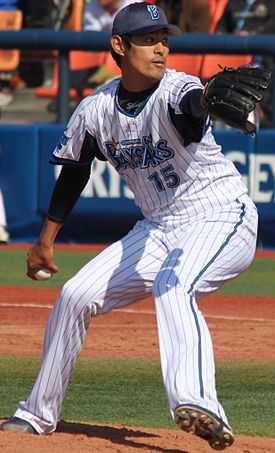 20140308 Shouichi Inoh, pitcher of the Yokohama DeNA BayStars, at Yokohama Stadium.JPG