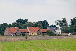 Sławosze Village in Warmian-Masurian, Poland