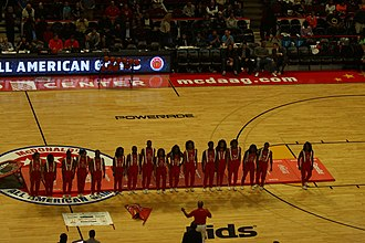 2015 McDonald's All-American Boys Game - Halftime performers Jesse White Tumbling Team