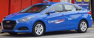 ComfortDelGro - Hyundai i40 taxi in Singapore in January 2016