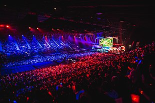 Photo of the 2015 League of Legends Championship crowd.