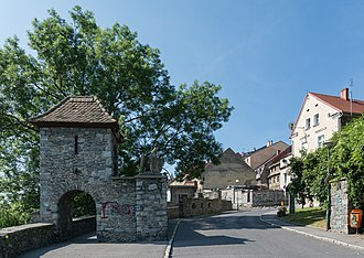 Niemcza - The historica fortifications and gate near the entrance to Old Town
