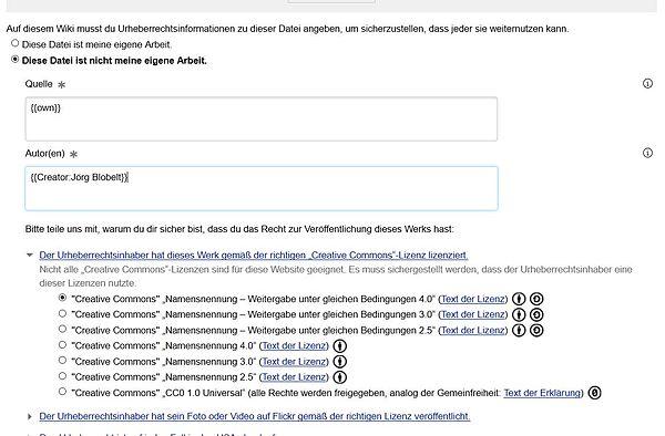 Screenshot Hochladeassistent