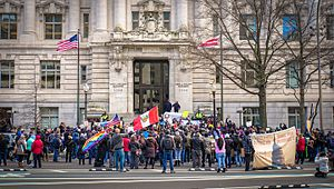 Day Without Immigrants 2017 - Demonstrators in front of the John A. Wilson Building in Washington, D.C.