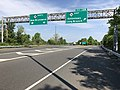 2018-05-26 09 32 41 View north along New Jersey State Route 18 at Exit 13B (New Jersey State Route 36 EAST, Eatontown, Long Brach) in Eatontown, Monmouth County, New Jersey.jpg
