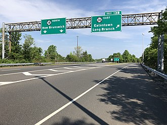 Eatontown, New Jersey - Route 18's junction with Route 36 in Eatontown