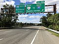 2018-10-24 12 40 41 View west along Virginia State Route 267 (Dulles Toll Road) at Exit 19A (Virginia State Route 123 SOUTH to Interstate 495 SOUTH, Tysons Corner) in McLean, Fairfax County, Virginia.jpg