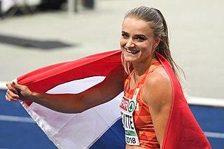 Lisanne de Witte Dutch sprinter