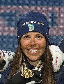 20190228 FIS NWSC Зеефельд Церемония награждения, команда Швеции 850 5868 Charlotte Kalla.jpg