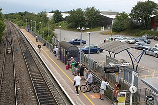 Yate railway station Railway station near Bristol, England