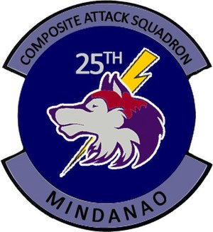 "15th Strike Wing, Philippine Air Force - Unit seal of the 25th ""LOBOS"" Composite Attack Squadron."