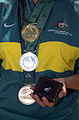 291000 - Paralympic gold silver bronze medals BHP diamond pin - 3b - 2000 Sydney medal photo.jpg