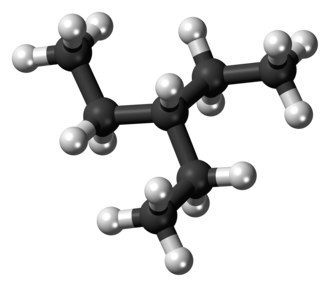 3-Ethylpentane - Image: 3 Ethylpentane 3D balls