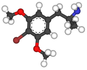 4-Bromo-3,5-dimethoxyamphetamine - Image: 4 bromo 3,5 dimethoxyamphetamine 3d sticks