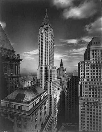 40 Wall Street - An early picture of the Manhattan Company Building.