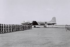 4X-ACD with honor guard 1949.jpg