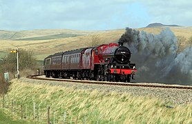 5699 Galatea on a test run between Hellifield and Clitheroe (geograph 3417538).jpg