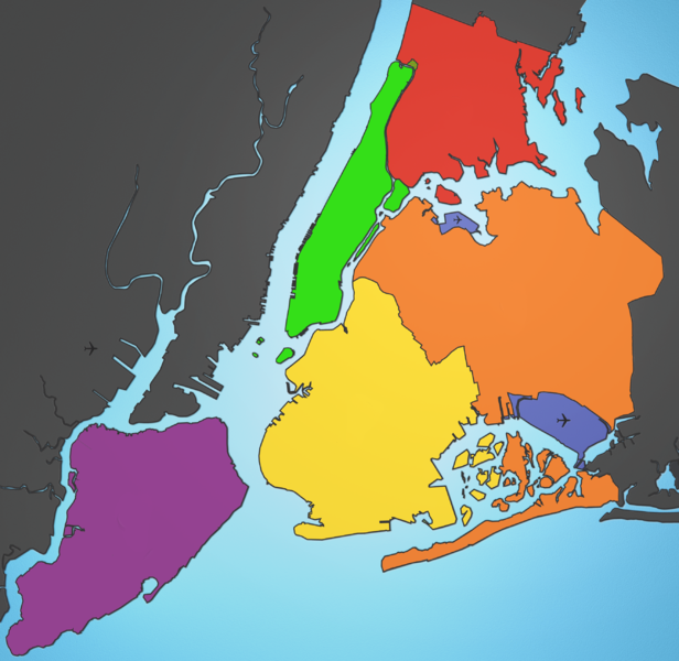 File:5 Boroughs Labels New York City Map mg.png