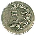 5 lekë of Albania in 2011 Obverse.png