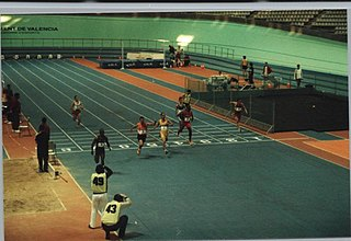 60 metres track and field sprint race