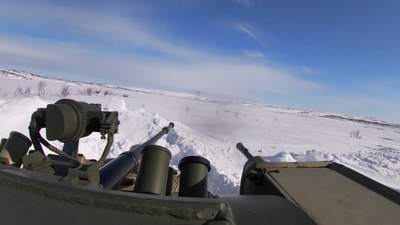 Няйф:61st Naval Infantry Brigade's exercise in Murmansk Oblast (16-04-2020).webm