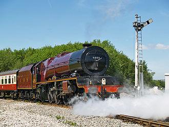 LMS Princess Royal Class - Image: 6201 PRINCESS ELIZABETH Castleton East Junction