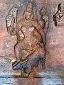6th century Durga spearing buffalo demon Mahishasura (cave 1), Badami Hindu cave temple Karnataka 2.jpg