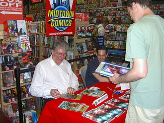 Jim Shooter - Shooter and Dennis Calero at a signing for Dark Horse's Doctor Solar, Man of the Atom at Midtown Comics Times Square, July 17, 2010.