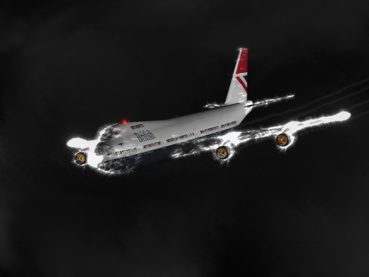 Обои Япония, ночь, Самолёт, Боинг 747. Авиация