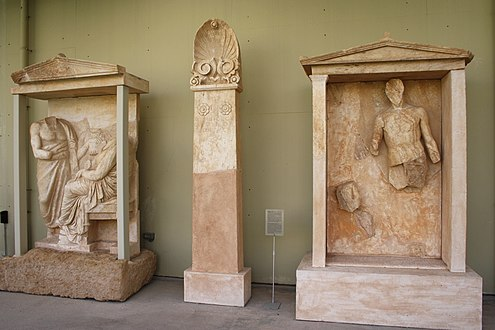 7670 - Piraeus Arch. Museum, Athens - Funerary enclosure of Mnesitheos - Photo by Giovanni Dall'Orto, No.jpg