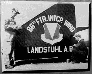 86th Airlift Wing - Landstuhl AB sign, 1953
