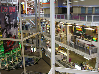 Palisades Center - The mall spans four floors.