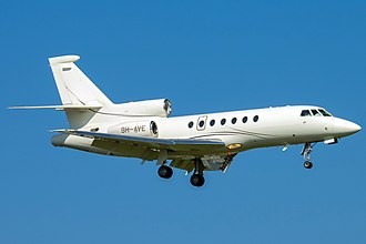 Dassault Falcon 50 - Maltese-registered Falcon 50EX on approach to Geneva in Switzerland