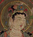 9th-century face detail, Anonymous-Bodhisattva Leading the Way (cropped).jpg