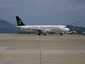 Dubrovnik Airport - Croatia Airlines, Star Alliance logojet Airbus A320 at Dubrovnik Airport