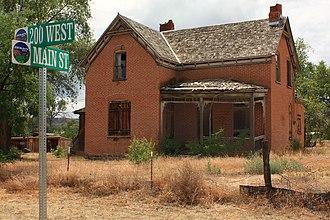 Escalante, Utah - Brick house on Main Street