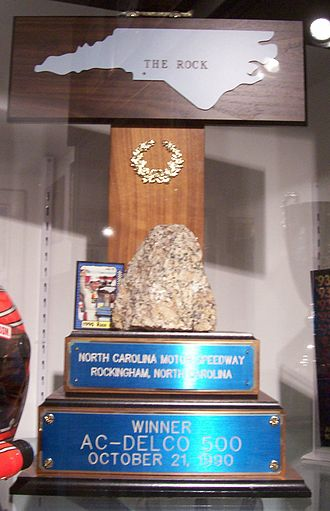 Pop Secret Microwave Popcorn 400 - Alan Kulwicki's 1990 winner trophy